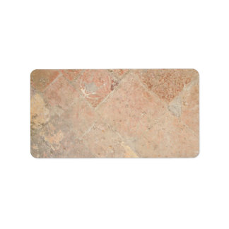 Picture of Vintage Weathered Old tiles. Address Label