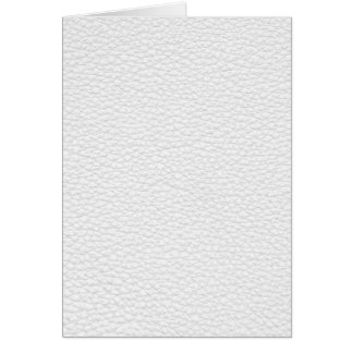 Picture of White Leather. Card