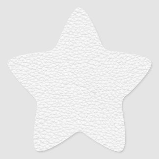 Picture of White Leather. Star Sticker