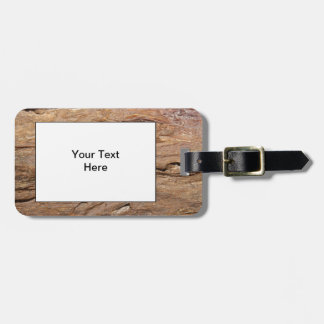 Picture of Wood Fossil. Luggage Tag