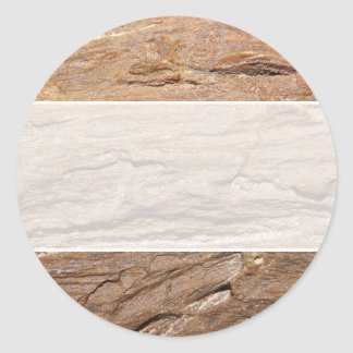 Picture of Wood Fossil. Round Stickers