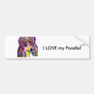 Picture Perfect Poodle Bumper Sticker