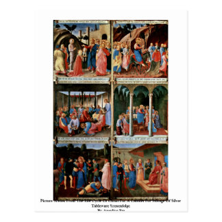 Picture Scenes From The Life Cycle Of Christ Postcard