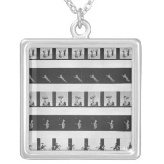 Picture strips for a praxinoscope silver plated necklace