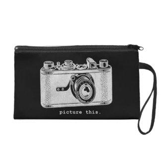 Picture This Vintage Retro Camera Wristlet