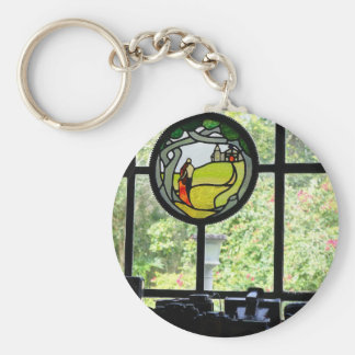 Picture Window 2 Basic Round Button Key Ring