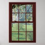 Picture Window Landscape - Cherry Blossoms. Poster