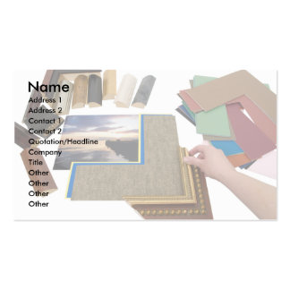 PictureFraming, Name, Address 1, Address 2, Con... Business Card Template