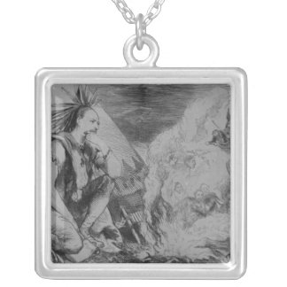 Pictures in the Fire! Silver Plated Necklace