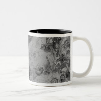 Pictures in the Fire! Two-Tone Coffee Mug