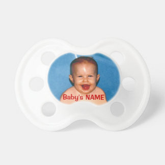 Pictures of Baby Pacifiers with PHOTO and NAME