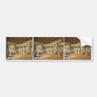 Pictures of the Lohengrin story drawing room Ne Bumper Sticker