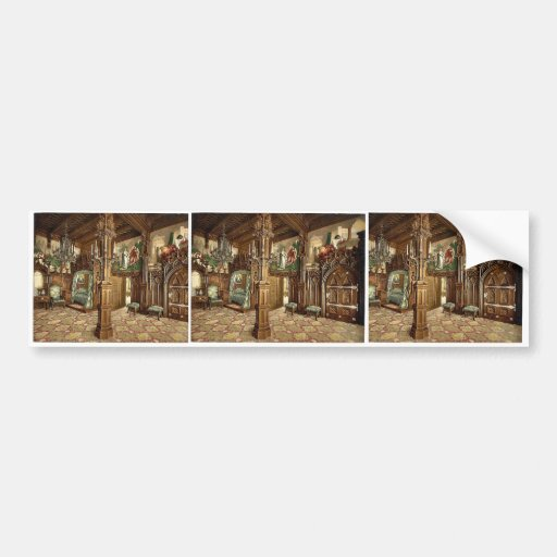 Pictures of Tristan story, bedroom, Neuschwanstein Bumper Stickers