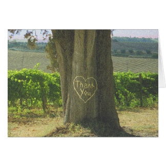 Picturesque Countryside Tree Heart Thank You Card