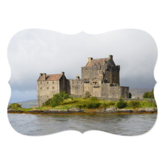 Picturesque Eilean Donan Castle 13 Cm X 18 Cm Invitation Card
