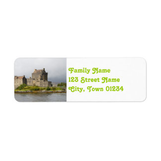 Picturesque Eilean Donan Castle Return Address Label