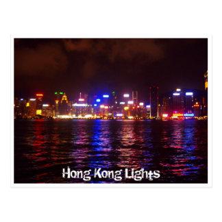 Picturesque Hong Kong Lights Postcard