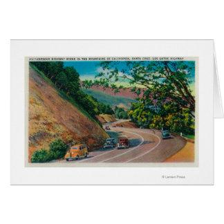 Picturesque Los Gatos Highway near Santa Cruz Greeting Card