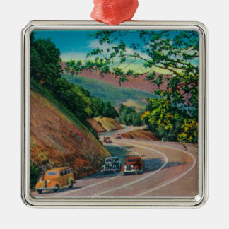 Picturesque Los Gatos Highway near Santa Cruz Christmas Ornament