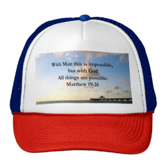 PICTURESQUE MATTHEW 19:26 OCEAN PHOTO DESIGN CAP