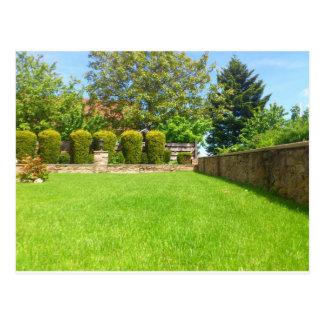 Picturesque Summer Garden Postcard