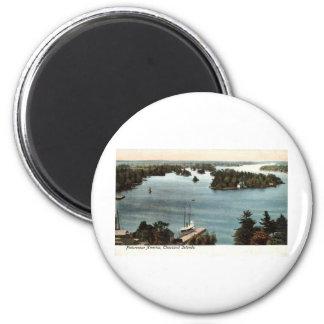 Picturesque Thousand Islands NY 1907 Vintage Magnet