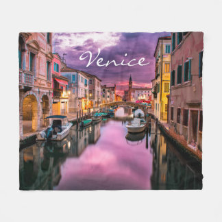 Picturesque Venice Fleece Blanket