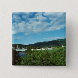 Picturesque village of St. Jean in Quebec, 15 Cm Square Badge