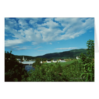 Picturesque village of St. Jean in Quebec, Card
