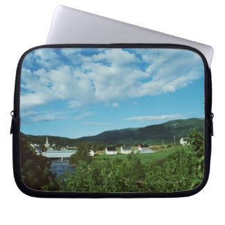Picturesque village of St. Jean in Quebec, Laptop Sleeves