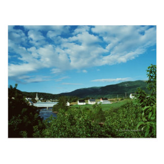 Picturesque village of St. Jean in Quebec, Postcard