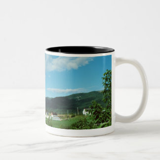 Picturesque village of St. Jean in Quebec, Two-Tone Coffee Mug