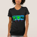 "PICU Nurse Gifts ""Peace Love PICU"" T-Shirt"