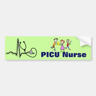 PICU Nurse Gifts-QRS Segment and Kids Design Bumper Sticker