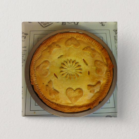 Pie 15 Cm Square Badge