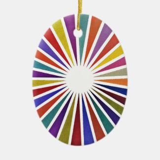 Pie chart ceramic oval decoration