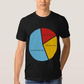 Pie Charts round dark t-shirt