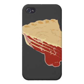 Pie - Cherry / Fruit Slice of Pie iPhone 4 Case