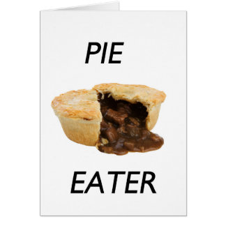 Pie eater greeting card