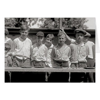 Pie Eating Contest, 1923 Greeting Card