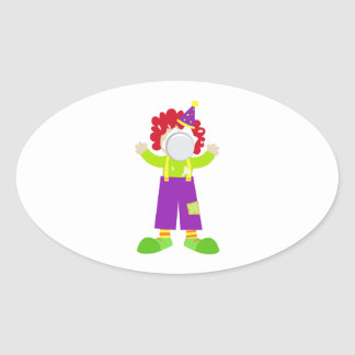 Pie Face Clown Stickers
