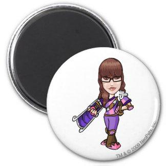 Pie Faerieland Staff Player 6 Cm Round Magnet