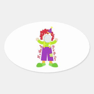 Pie In Face Oval Sticker