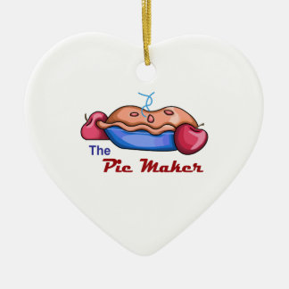 Pie maker ceramic heart decoration