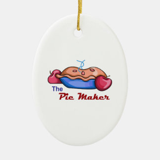 Pie maker ceramic oval decoration