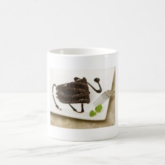 Pie of Chocolate with mint Basic White Mug