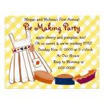 Pie Party Custom Announcement