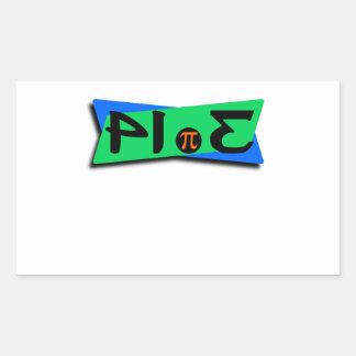 Pie Pi 3.14 Backwards Rectangular Sticker