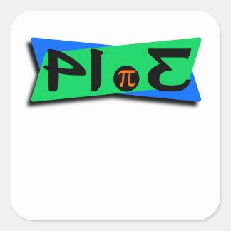 Pie Pi 3.14 Backwards Square Sticker