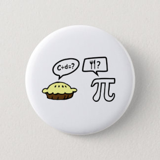 Pie & Pi 6 Cm Round Badge